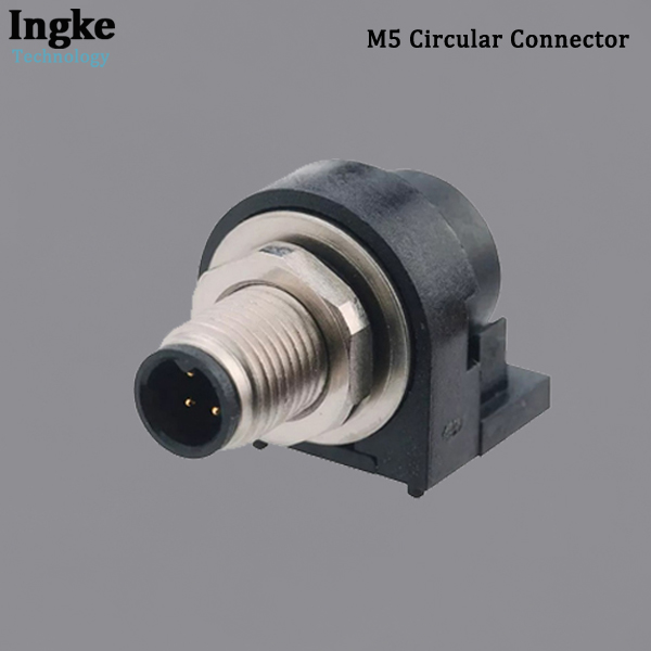 853-003-113R001 M5 Circular Connector IP67 Waterproof Right Angle Male Sensor Connector