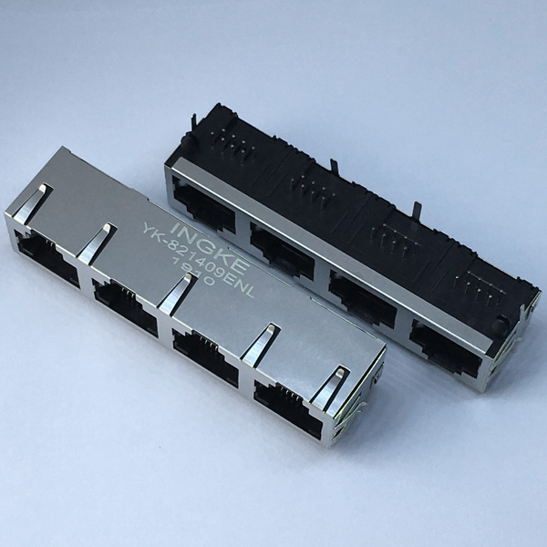 YK-821409ENL 1X4 RJ45 Modular Jack without Magnetic