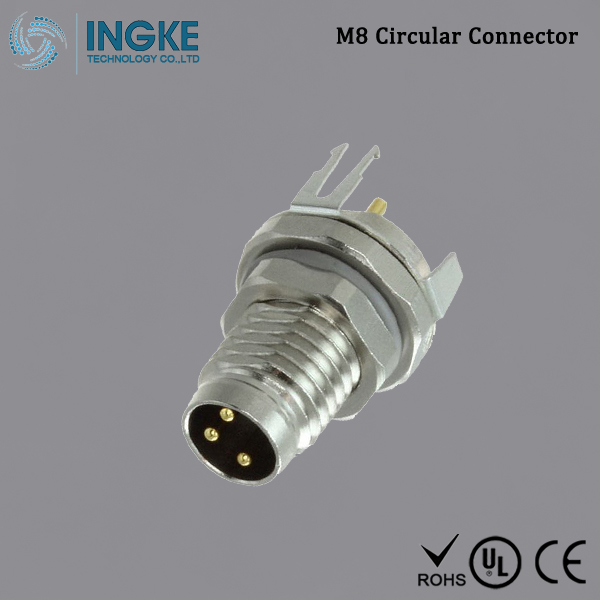 Substitute T4040034031-000 M8 Circular Connector IP67 Male Panel Mount Plug