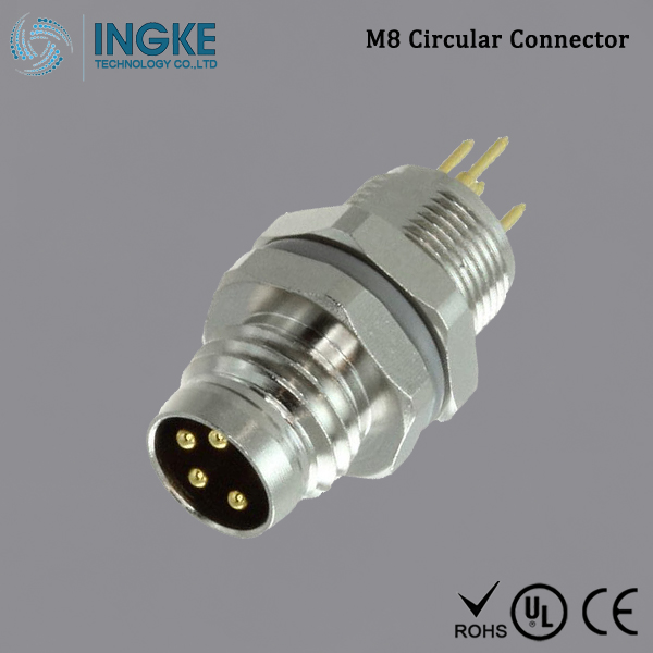 Substitute T4042014041-000 M8 Circular Connector IP67 Male Plug 4Pin