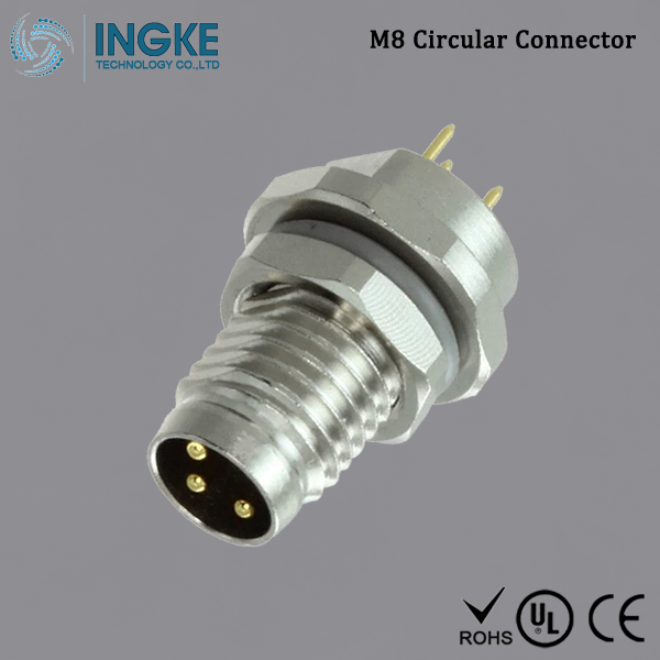 Substitute T4040014031-000 M8 Circular Connector IP67 Male Plug 3Pin