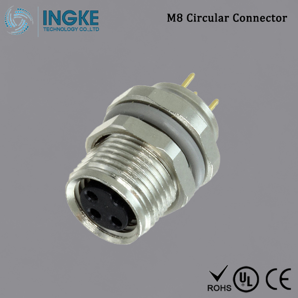 T4041017031-000 M8 Circular Connector IP67 Panel Mount 3Pin
