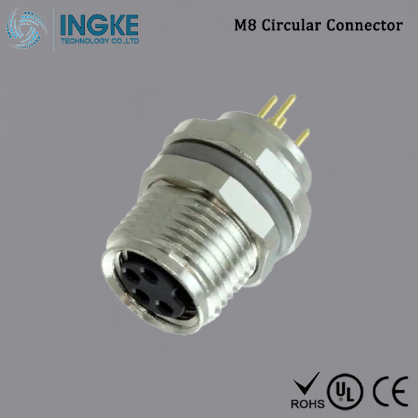 T4041017041-000 M8 Circular Connector IP67 Panel Mount 4Pin