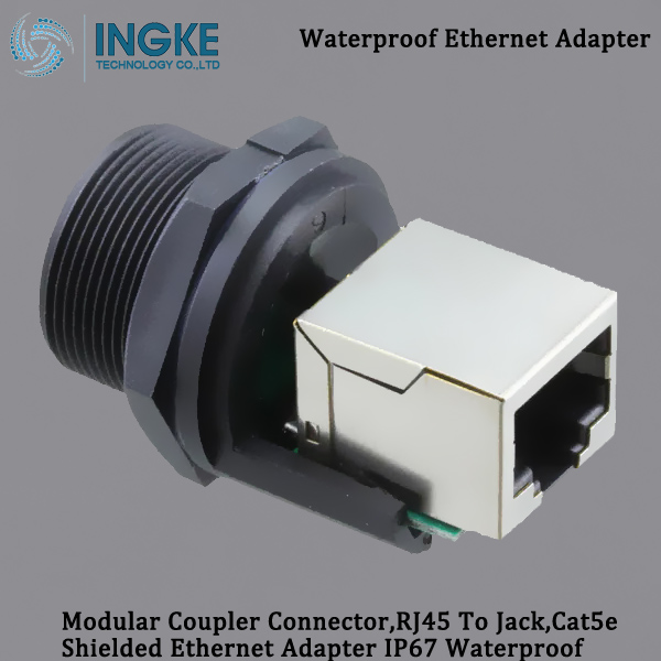 RCP-5SPFFH-SCU7001 Modular Coupler Connector,RJ45 To Jack,Cat5e Shielded Ethernet Adapter IP67 Waterproof