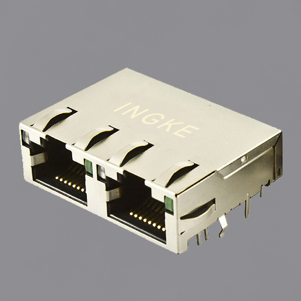 JTL-U1001NL 1X2 Ports RJ45 Ethernet Connector 10GBase-T with 10GbE Magnetic